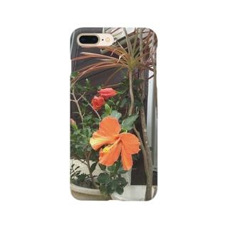 橙の仏桑花 Smartphone cases