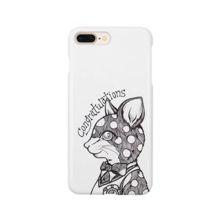 線画ネコ Smartphone cases