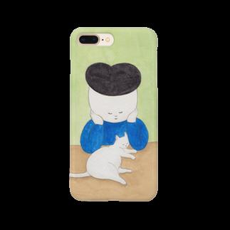 Zacchino!の仲良しな白猫と少年 Smartphone cases
