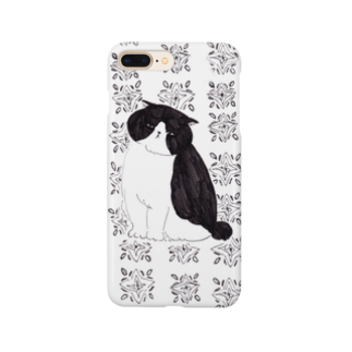 Zacchino!のモノクロ猫/ハチワレ Smartphone cases