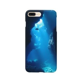 海底洞窟に差し込んだ光 Smartphone cases