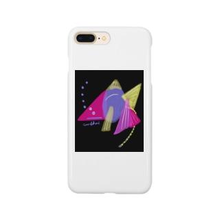 夜のゴールデンうんこ金魚 Smartphone cases