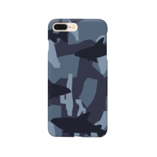 サメ迷彩 Smartphone cases