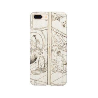 夢応の鯉魚(裏写り低減版)L Smartphone cases