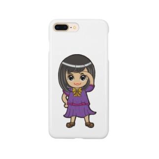 ʚ一ノ瀬 彩 公式 ストアɞのちびキャラ/SCHOOLTYPE:紫【一ノ瀬彩】 Smartphone cases