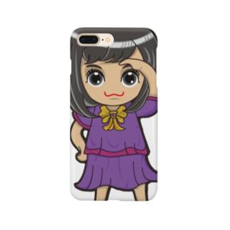 ちびキャラ/SCHOOLTYPE:紫【一ノ瀬彩】 Smartphone cases