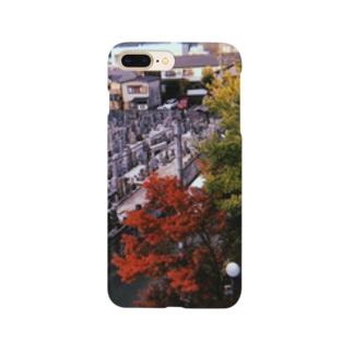 墓と紅葉 Smartphone cases