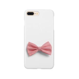 Ribbon-corsage*のピンクリボン Smartphone cases