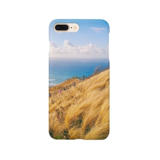 枯れ草と青 Smartphone cases