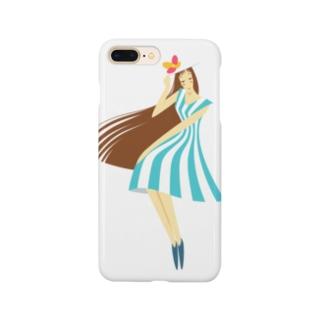 summer (ライトブルー) Smartphone cases