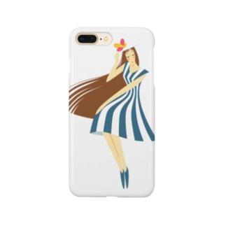 - さらさら -のsummer (ネイビーブルー) Smartphone cases