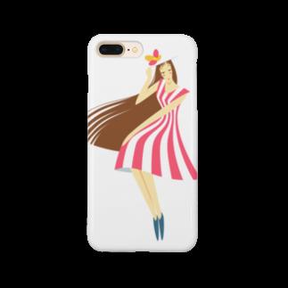 - さらさら -のsummer (ピンク) Smartphone cases
