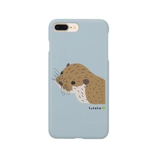 カワウソのブラウン Smartphone cases