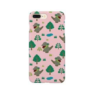 モッコメリアンパターン-ピンク スマートフォンケース