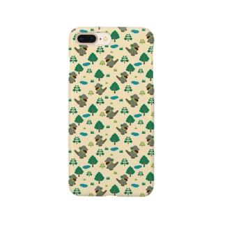 モッコメリアンパターン-緑 スマートフォンケース