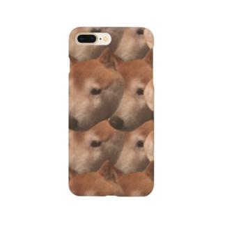 犬の顔 Smartphone cases