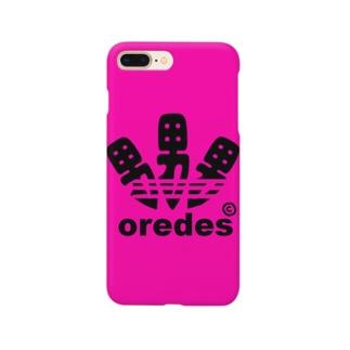oredes(俺です)ロゴスマホケース Smartphone cases