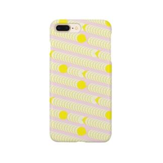 レモンのパターン スマートフォンケース