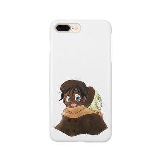 黒白マフラー Smartphone cases