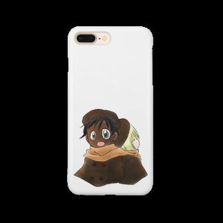 まきむらの黒白マフラー Smartphone cases