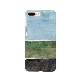 青い部屋 Smartphone cases