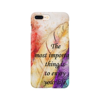 フェザー Smartphone cases
