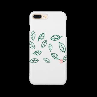 晴田書店のleaf〜葉〜 Smartphone cases