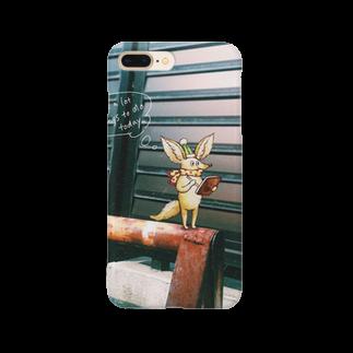 森の中の八雲堂の忙しいフェネックくん Smartphone cases
