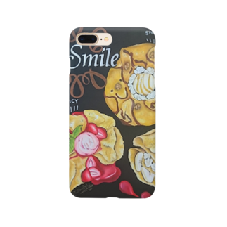 team-Aのsmile baby Smartphone cases