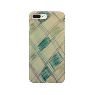 手描きチェックチェック Smartphone cases