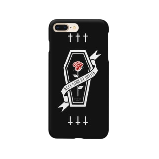 【MOON SIDE】Rose Coffin Ver.3 #Black Red Smartphone cases