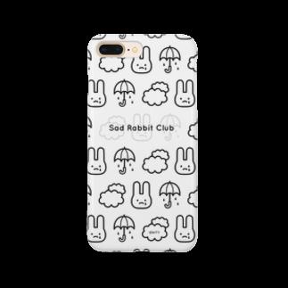 IENITY / MOON SIDEの【IENITY】Sad Rabbit Club PATTERN #Black スマートフォンケース
