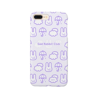 【IENITY】Sad Rabbit Club PATTERN #Purple スマートフォンケース