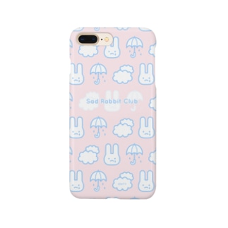 【IENITY】Sad Rabbit Club PATTERN #Pink*Blue スマートフォンケース