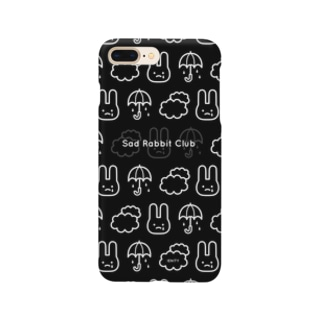 【IENITY】Sad Rabbit Club PATTERN #Black*White Smartphone cases