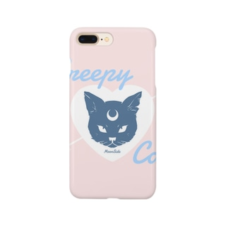 【MOON SIDE】 Creepy Cat #Pink*Blue スマートフォンケース