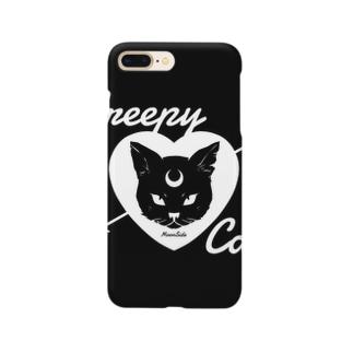 【MOON SIDE】 Creepy Cat #Black Ver.2 スマートフォンケース