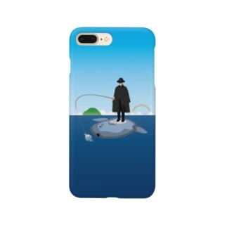 マンボウに乗った旅人 Smartphone cases