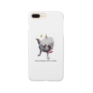 「平和は微笑みから」 Smartphone cases