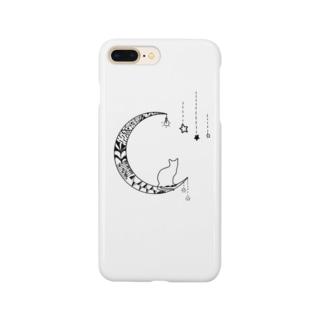 月ネコさん Smartphone cases