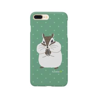 シマリスのマリ Smartphone cases