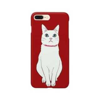 白い猫様 Smartphone cases