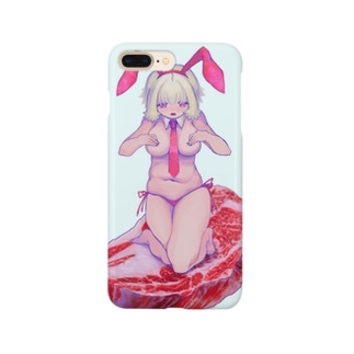 肉乗りおにくちゃん Smartphone cases