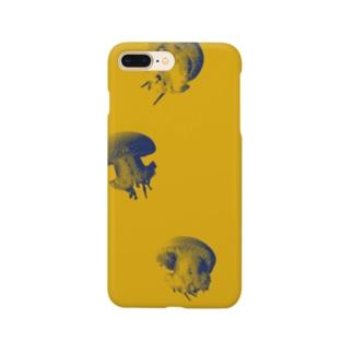 水玉模様のクラゲ プンクタータ(黄色) Smartphone cases