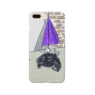 猫とカサとポリ袋 Smartphone cases