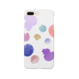 カラフルなクラゲ カストティラス Smartphone cases