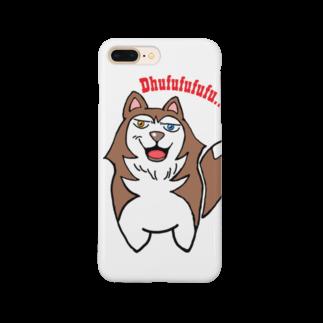 Dream Dog World 【夢犬】のにたりハスキー みんとちゃん でゅふ Smartphone cases
