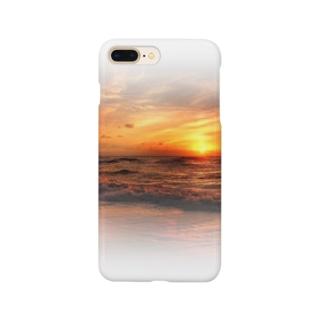 海岸の夕日 Smartphone cases