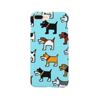 犬連合(水色) Smartphone cases