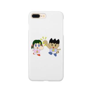 ミニわんぱ君としおりちゃん Smartphone cases